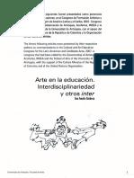 Ana Mae Barbosa Interdisciplinariedad y Otros Inter