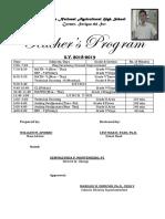 Teachers Program 2017