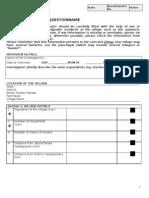 (2) Village Questionnaire (Final)