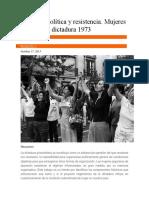 Memoria Política y Resistencia