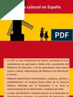 Política Cultural España