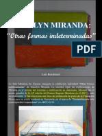 """Luis Benshimol - Esmelyn Miranda, """"Otras Formas Indeterminadas"""""""