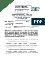 Guía de Examen Final. Español 2o.