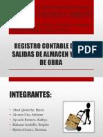 Registro Contable de Las Salidas de Almacen y m.o.