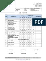 MEP checklist for Office interior work