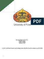 MA Hindi Part I Syllabus Credit System