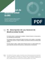 Ley General de Biodiversidad (LGB)