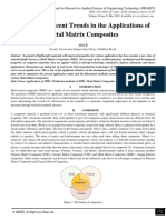 A Study on Recent Trends in the Applications of Metal Matrix Composites