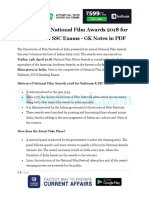 List of 65th National Film Awards 2018 for Railways SSC Exams GK Notes in PDF