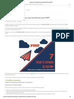 z¿Conoces Los 7 Steps Básicos Para Certificarte Como PMP
