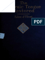 Fabre d'Olivet - The Hebraic Tongue Restored