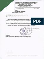 Surat Kalender Pendidikan TP 2018-2019 Kanwil Jawa Timur