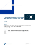 FI Enhancement Technique - How-To-Guide on the Usage of Business Transaction Events (BTE)