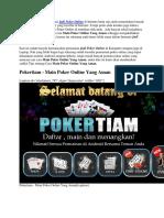 Main Poker Online Yang Aman