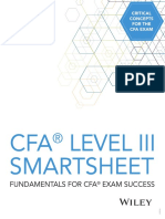 DA4399 CFA Level III Quick Sheet