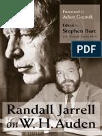 [Stephen Burt, Hannah Brooks-Motl] Randall Jarrell