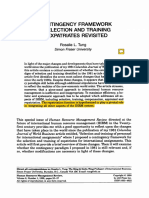 A Contingency Framework of Selection and Training of Expatriates Revisited LUCRAT