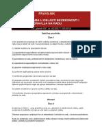 Pravilnik o Evidencijama u Oblasti BZR