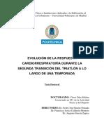 Evolución de La Respuesta - Triatlón