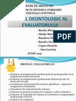 Lucrare de Absolvire- Codul Deontologic