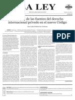 Cárdenas - Prelacion de Las Fuentes Del Derecho Internacional Privado en El Nuevo Codigo