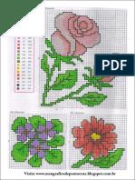 Graficos Ponto Cruz Flores Gratis PDF 1