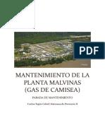 Mantenimiento de La Planta Malvinas