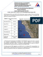 Informe CISMID Sismo 03062014