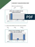 Aplicación de Encuesta y Analisis de Resultados
