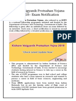 Kishore Vaigyanik Protsahan Yojana (KVPY) 2018 – Exam Notification