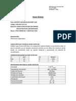 Ficha Tecnica Soporte Agitador Rougher 1500