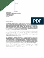 Carta de Quim Torra a mandatarios europeos