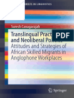 CANAGARAJAH 2017 Translingual Practices and Neoliberal Policies