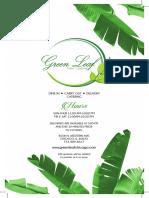 Green Leaf Menu Dine-in Menu