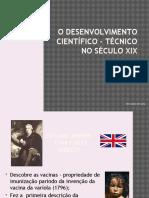 O Desenvolvimento Ciêntífico-técnico No Século XIX