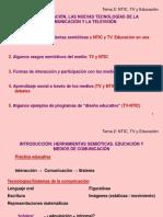 Educación, Nuevas TICS y La TV