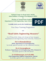 Valedictory - Road Safety