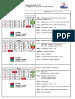 Calendário Escolar - ILV 2018