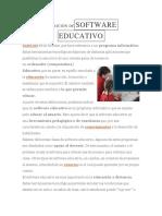 DEFINICIÓN DESOFTWARE EDUCATIVO