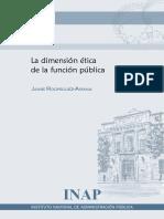 La Dimensión Etica de La Función Publica