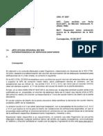 Oficio SSS Vol Estanque