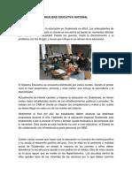 Realidad Educativa Nacional guatemala