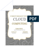 Current Research Topics in Cloud Computing Security2