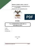 La Administración de La Información