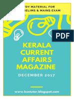 1.KAS Current Affairs Magazine - DeCEMBER 2017