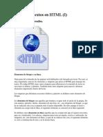 Insertar Textos en HTML
