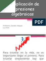 Multiplicacin de Expresiones Algebraico