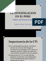 Clase 1. La Investigacion en El Perú