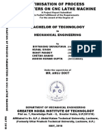 Project report on optimisation of process parameters using CNC Lathe
