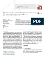 Effect of plasma surface treatment of recycled carbon fiber on carbonfiber-reinforced plastics (CFRP) interfacial properties
